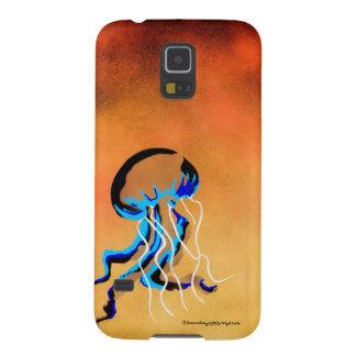 Jellyfish in yellow ocean galaxy s5 case