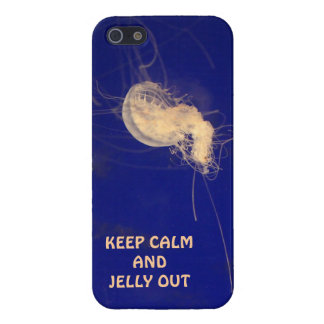Jellyfish iPhone, Keep Calm & Jelly Out Cover For iPhone SE/5/5s