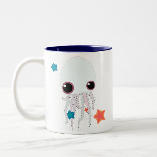 jellyfish jelly Two-Tone coffee mug