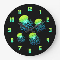 Jellyfish Large Clock