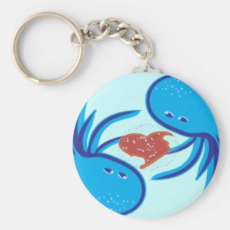 jellyfish love bubble share keychain