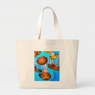 Jellyfish Madness Large Tote Bag