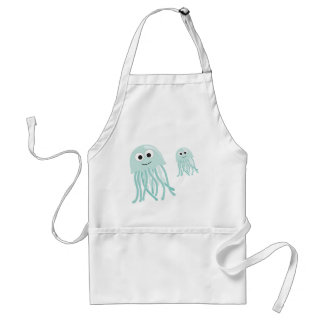 jellyfish mama and baby aprons
