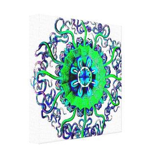 Jellyfish Mandala Graphic Pop Art Wrapped Canvas