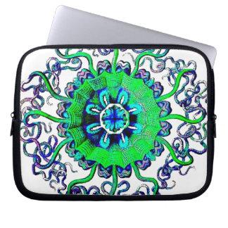 Jellyfish Mandala Pop Art Graphic Laptop Sleeve