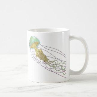 Jellyfish Classic White Coffee Mug