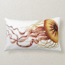 Jellyfish Nautical Beach Decorative Lumbar Pillow