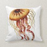 Jellyfish Nautical Beach Decorative Throw Pillow