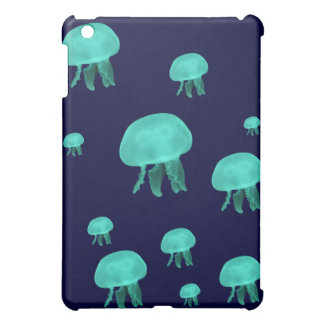 jellyfish neon blue  iPad mini cover