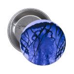 Jellyfish on Blue Button