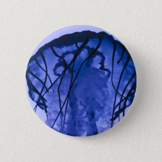 Jellyfish on Blue Pinback Button