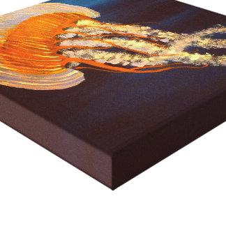 Jellyfish painting canvas print