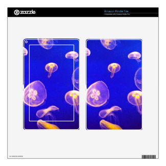 JELLYFISH PATTERN DECAL FOR KINDLE FIRE