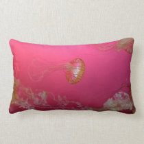 Jellyfish Pink Lumbar Pillow