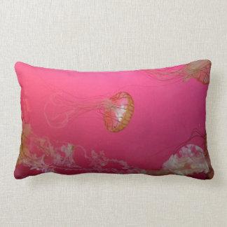 Jellyfish Pink Lumbar Pillow