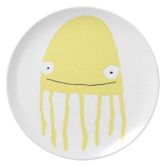 Jellyfish Plate in Yellow