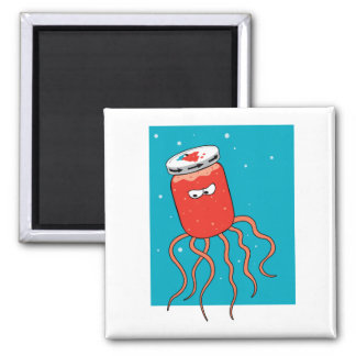 Jellyfish Pun 2 Inch Square Magnet