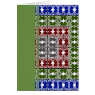 Jellyfish RGB Grid 2 Greeting Card