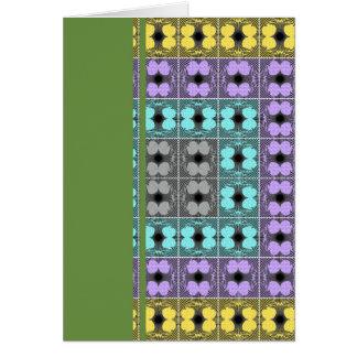 Jellyfish RGB Grid 2 Inverted Greeting Card