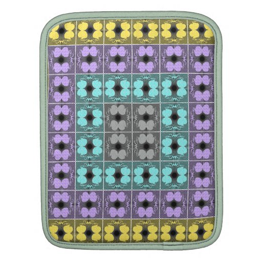 Jellyfish RGB Grid 2 Inverted iPad Sleeves