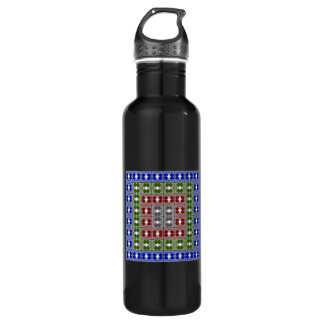 Jellyfish RGB Grid 2 Stainless Steel Water Bottle