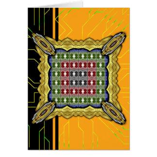 Jellyfish RGB Grid Greeting Card