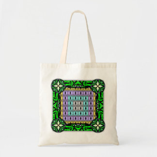 Jellyfish RGB Grid Inverted Budget Tote Bag