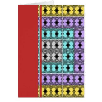 Jellyfish RGB Grid Inverted Greeting Card
