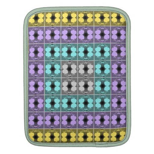 Jellyfish RGB Grid Inverted iPad Sleeves