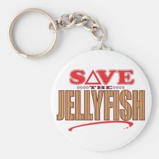 Jellyfish Save Keychain