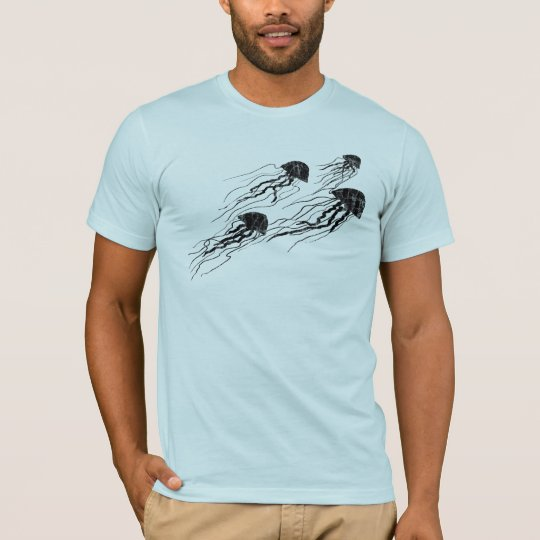 Jellyfish Silhouettes light tee shirt