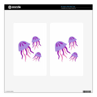 Jellyfish Kindle Fire Decals
