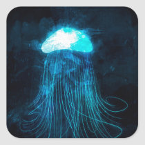 Jellyfish Square Sticker