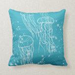 Jellyfish Throw Pillows