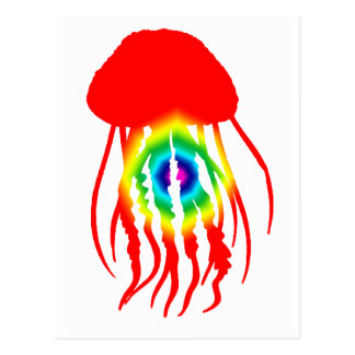JELLYFISH TIE DYE POST CARDS