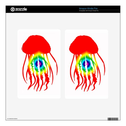 JELLYFISH TIE DYE SKIN FOR KINDLE FIRE