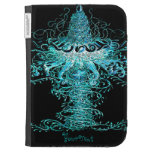 Jellyfish Tornado Pop Art Abstract Add Your Text Kindle Folio Cases