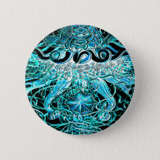 Jellyfish Tornado Pop Art Pinback Button