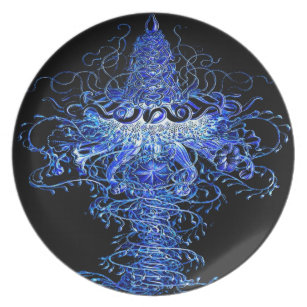 Jellyfish Tornado Pop Art Wall Decor Plastic Blue Dinner Plate  sc 1 st  Zazzle & Tornado Plates | Zazzle