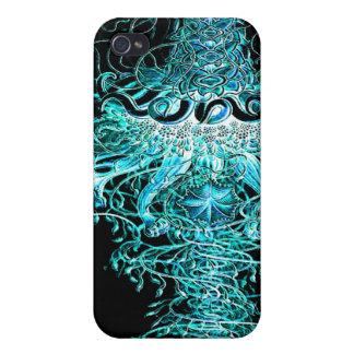 Jellyfish Tornado Wild Groovy Art Print iPhone 4/4S Cases