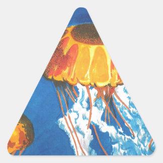 Jellyfish Triangle Sticker