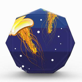 Jellyfish Vector Acrylic Award