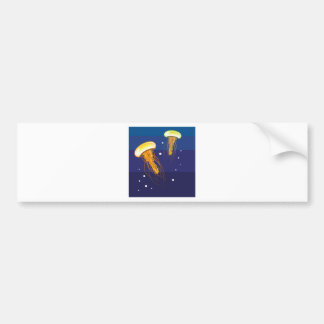 Jellyfish Vector Bumper Sticker