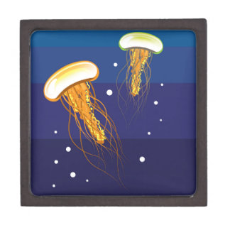 Jellyfish Vector Keepsake Box