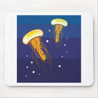 Jellyfish Vector Mouse Pad