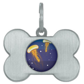 Jellyfish Vector Pet ID Tag