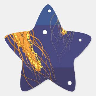 Jellyfish Vector Star Sticker