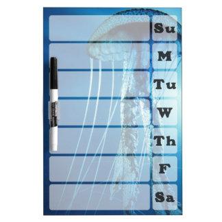 Jellyfish Weekly Planner Dry Erase Board