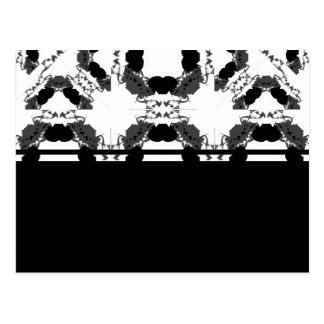 Jellyfish WGB Grid Rotated Inverted Postcard