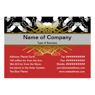 Jellyfish WGB Grid Rotated Large Business Card